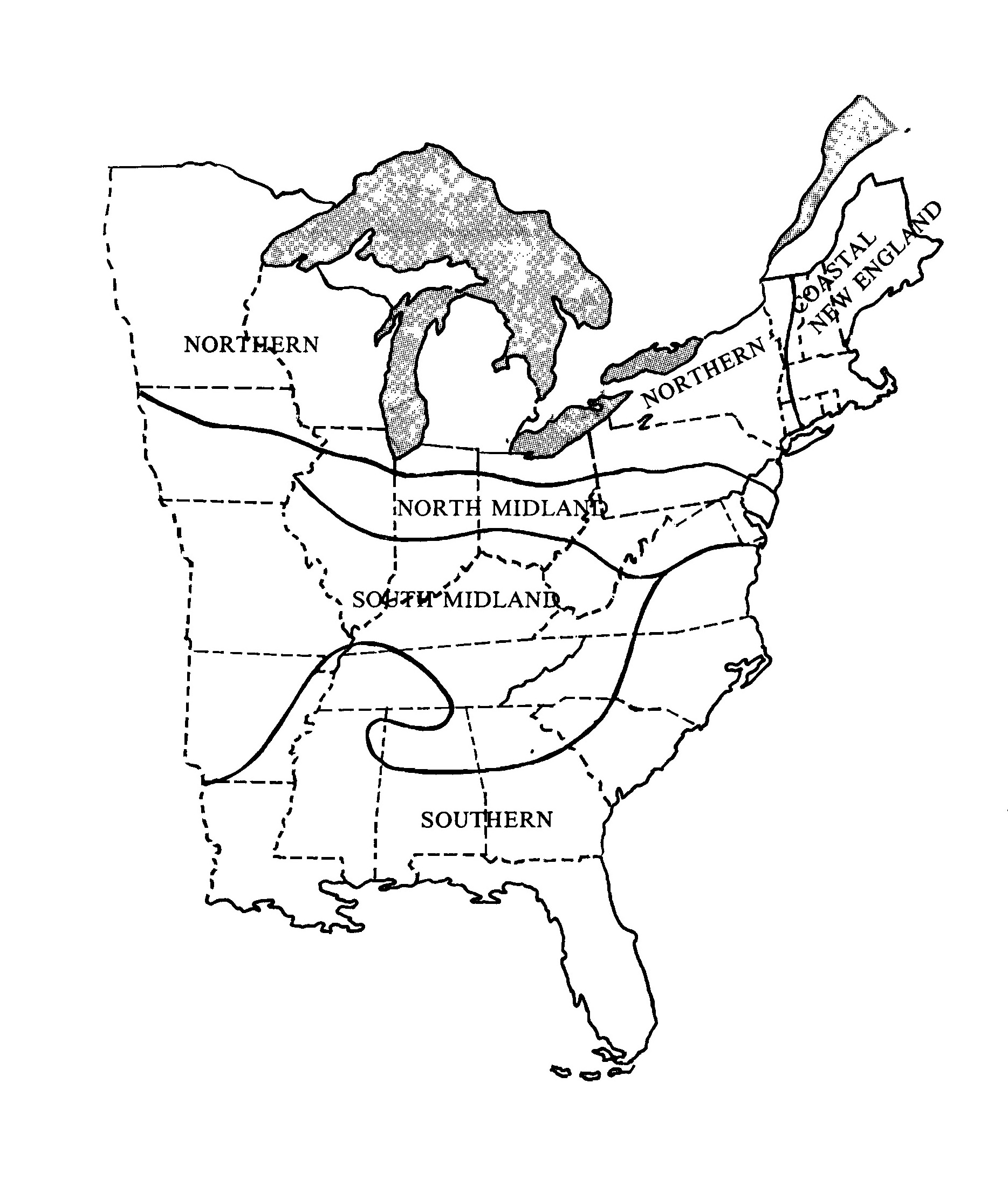 Map of major dialect regions in the United States from Language Files Materials for An Introduction to Language (1982).  sc 1 st  Triple Canopy : triple canopy advisors - memphite.com